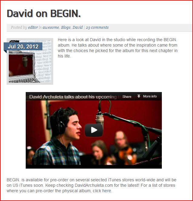 david on begin