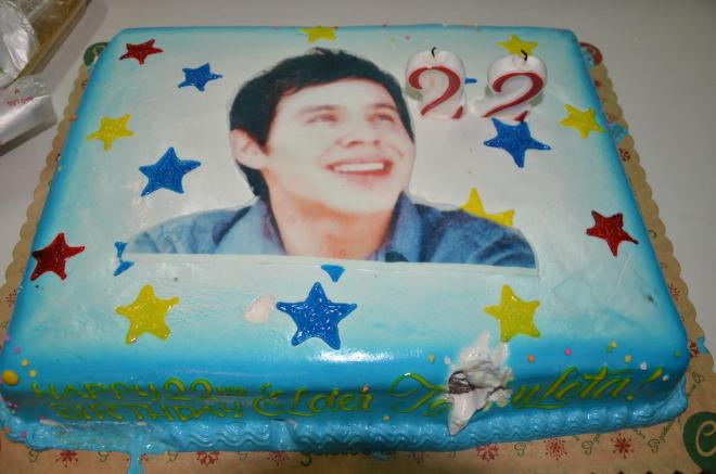 David's pretty birthday cake. :)